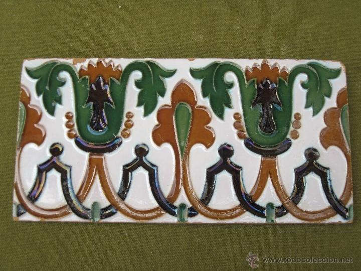 Antigüedades: LOTE DE DOS AZULEJOS ANTIGUOS DE SEVILLA. PPOS.S/XX. HIJO DE J. MENSAQUE. AZULEJO. - Foto 3 - 44725332