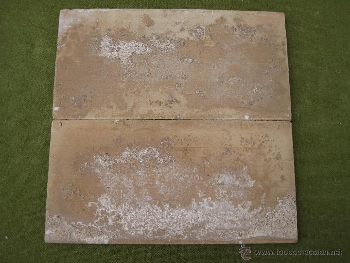Antigüedades: LOTE DE DOS AZULEJOS ANTIGUOS DE SEVILLA. PPOS.S/XX. HIJO DE J. MENSAQUE. AZULEJO. - Foto 4 - 44725332