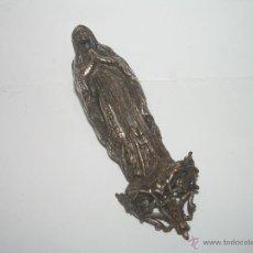 Antigüedades: ANTIGUA Y MUY BONITA IMAGEN RELIGIOSA PLATEADA.. Lote 44727662