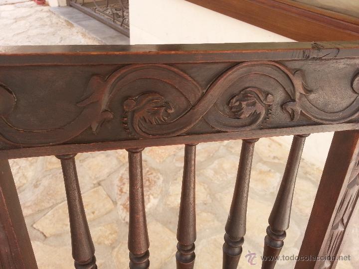 Antigüedades: Importante lote de sillas siglo XIX en madera noble. Bonitos bolillos torneados en respaldo y patas. - Foto 4 - 44742253