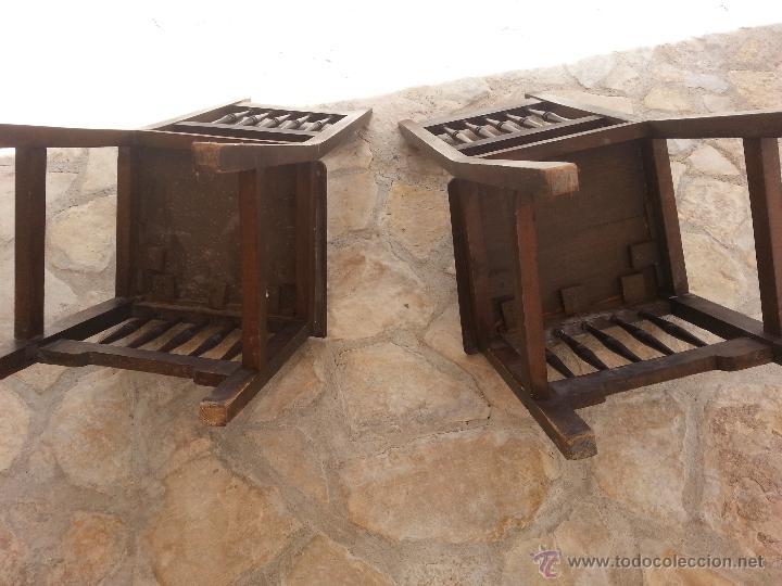 Antigüedades: Importante lote de sillas siglo XIX en madera noble. Bonitos bolillos torneados en respaldo y patas. - Foto 6 - 44742253