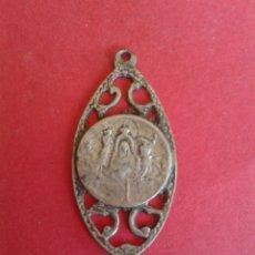 Antigüedades: ANTIGUA MEDALLA DE NTRA SRA DE LA CUEVA SANTA. ALTURA. 2,8 GRAMOS. PLATA.. Lote 44750772