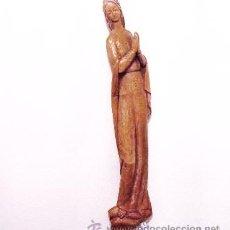 Antigüedades: TALLA DE VIRGEN EN MADERA DE 64 CM DE ALTO. Lote 32389140