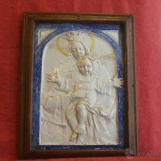 Antigüedades: VIRGEN CON NIÑO. CERÁMICA DE RELIEVE DE TRIANA. Lote 44755151