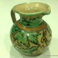 Antigüedades: JARRA DE CERÁMICA PUENTE DEL ARZOBISPO CON LIEBRE. Lote 44756223