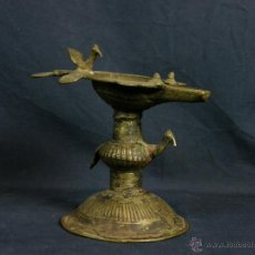 Antigüedades: DEEPAK O DIPAK LÁMPARA ACEITE TRADICIONAL INDIA LATÓN PARA RITUALES DOMÉSTICOS FIESTA DIWALI. Lote 44757900