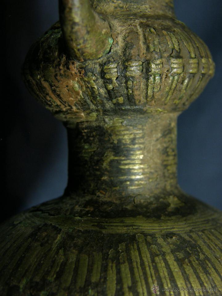 Antigüedades: DEEPAK O DIPAK LÁMPARA ACEITE TRADICIONAL INDIA LATÓN PARA RITUALES DOMÉSTICOS FIESTA DIWALI - Foto 2 - 44757900