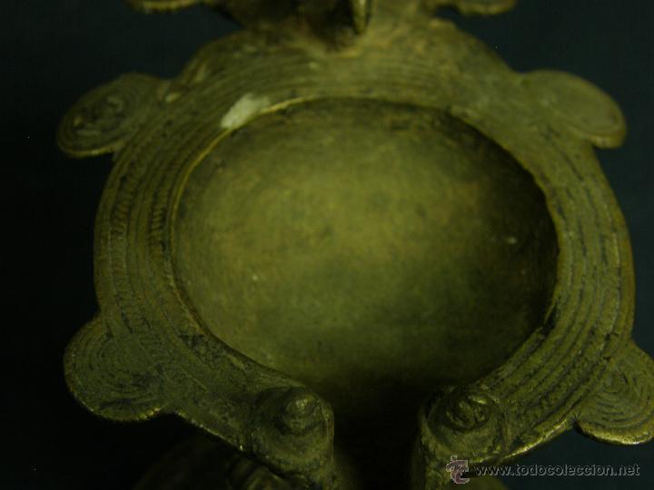 Antigüedades: DEEPAK O DIPAK LÁMPARA ACEITE TRADICIONAL INDIA LATÓN PARA RITUALES DOMÉSTICOS FIESTA DIWALI - Foto 3 - 44757900