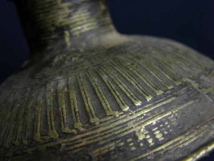 Antigüedades: DEEPAK O DIPAK LÁMPARA ACEITE TRADICIONAL INDIA LATÓN PARA RITUALES DOMÉSTICOS FIESTA DIWALI - Foto 11 - 44757900