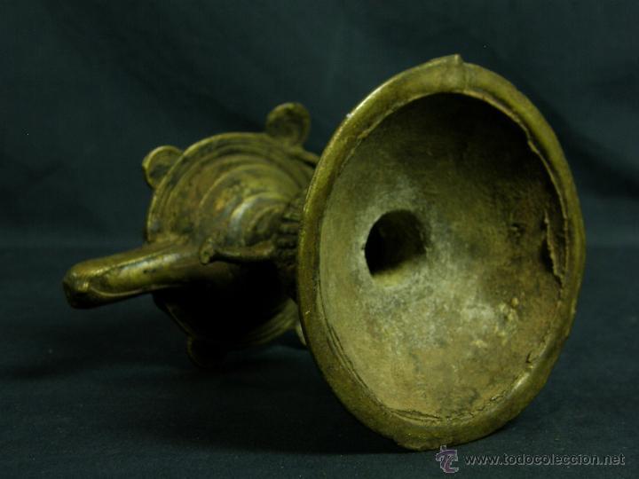 Antigüedades: DEEPAK O DIPAK LÁMPARA ACEITE TRADICIONAL INDIA LATÓN PARA RITUALES DOMÉSTICOS FIESTA DIWALI - Foto 20 - 44757900