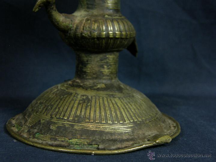 Antigüedades: DEEPAK O DIPAK LÁMPARA ACEITE TRADICIONAL INDIA LATÓN PARA RITUALES DOMÉSTICOS FIESTA DIWALI - Foto 22 - 44757900