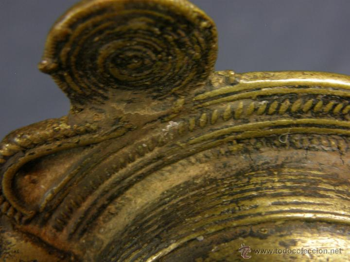 Antigüedades: DEEPAK O DIPAK LÁMPARA ACEITE TRADICIONAL INDIA LATÓN PARA RITUALES DOMÉSTICOS FIESTA DIWALI - Foto 24 - 44757900