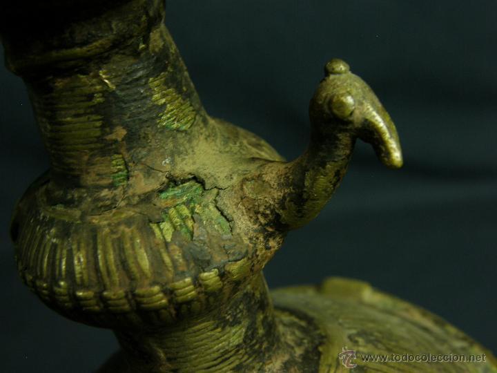 Antigüedades: DEEPAK O DIPAK LÁMPARA ACEITE TRADICIONAL INDIA LATÓN PARA RITUALES DOMÉSTICOS FIESTA DIWALI - Foto 29 - 44757900