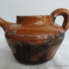 Antigüedades: ANTIGUA CAFETERA DE CERÁMICA DE VALL D'UXÓ.. Lote 44760364