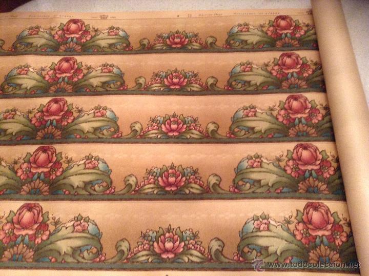 Precioso papel pintado ingl s flores a os 20 30 comprar en todocoleccion 44764926 - Papel pintado anos 60 ...
