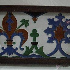 Antigüedades: AZULEJO DE CENEFA, SIGLO XIX, ENMARCADO. Lote 44775987