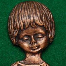 Antigüedades: APLIQUE RELIGIOSO DE COBRE. Lote 44777680