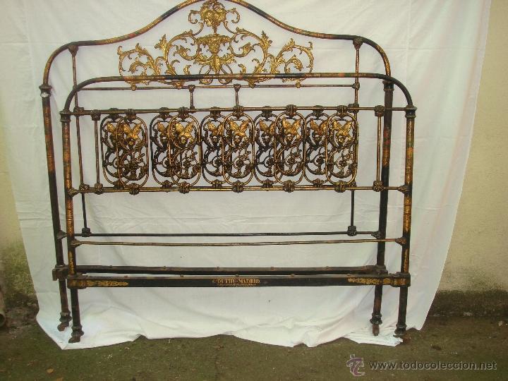 Antigua y original cama de hierro decorada g comprar camas antiguas en todocoleccion 44785127 - Camas de hierro antiguas ...