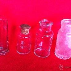 Antigüedades: 4 FRASCOS DE LABORATORIO . Lote 44790825