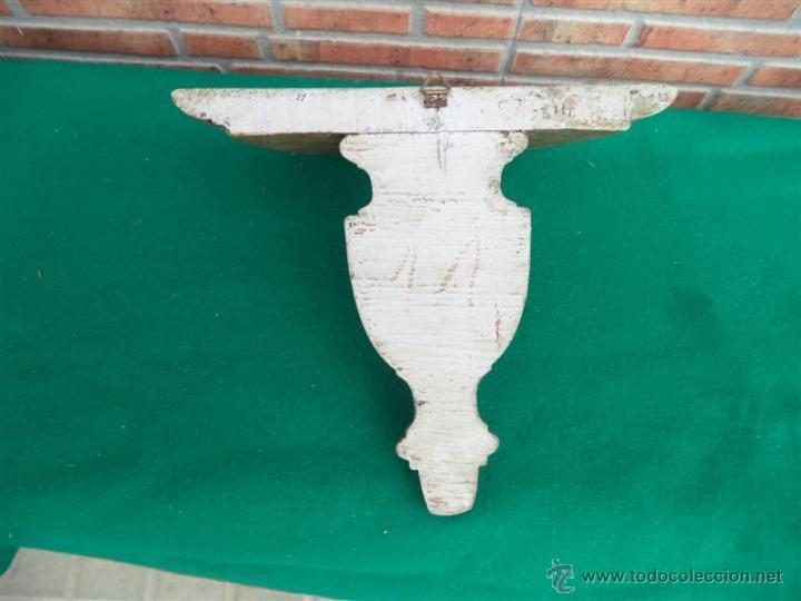 Antigüedades: mensula de madera dorada - Foto 3 - 44801792