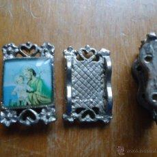 Antiquités: ABALORIO RELIGIOSO PARA PULSERA, METALICA CON DOS AGUJERITOS PARA LA CUERDA - SAN JOSE. Lote 44806838
