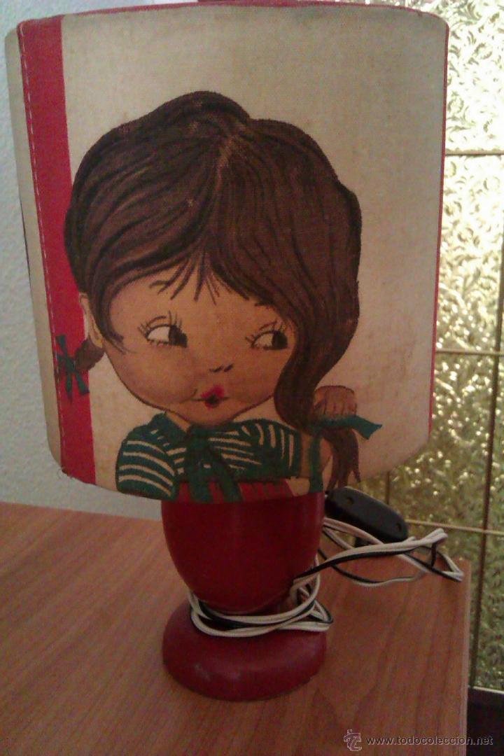 ANTIGUA LAMPARA DE SOBREMESA INFANTIL PRINCIPIOS SIGLO XX DE LA FAMOSA MARCA CATALANA SIMON (Antigüedades - Iluminación - Lámparas Antiguas)