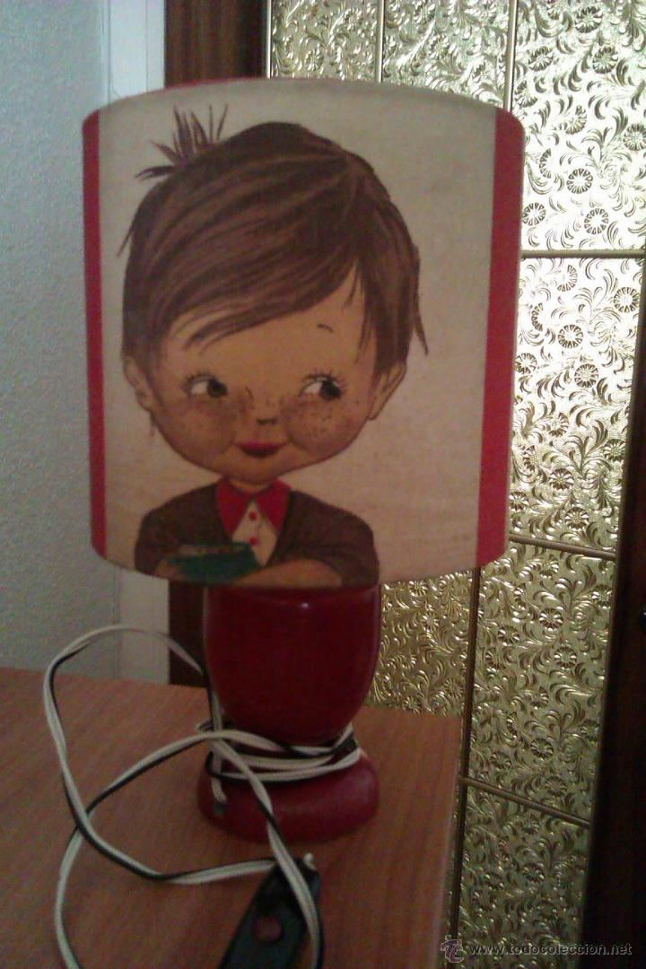 Antigüedades: ANTIGUA LAMPARA DE SOBREMESA INFANTIL PRINCIPIOS SIGLO XX DE LA FAMOSA MARCA CATALANA SIMON - Foto 3 - 44814608