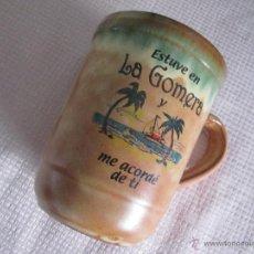 Antigüedades: NT-TAZÓN-CERÁMICA-SOUVENIR-LA GOMERA-12X12X8,8 D.-PERFECTO ESTADO-VER FOTOS.. Lote 44817870