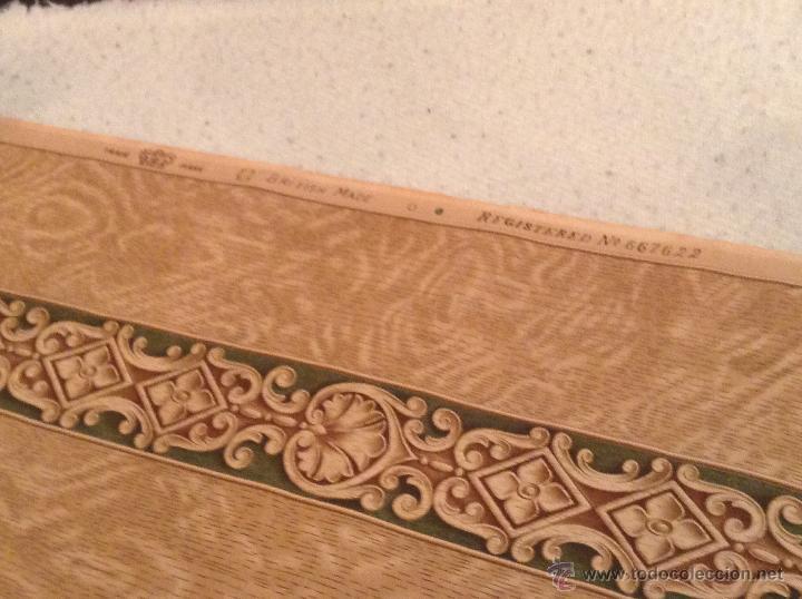 Precioso papel pintado ingl s cenefa a os 20 30 comprar en todocoleccion 44818393 - Papel pintado anos 60 ...