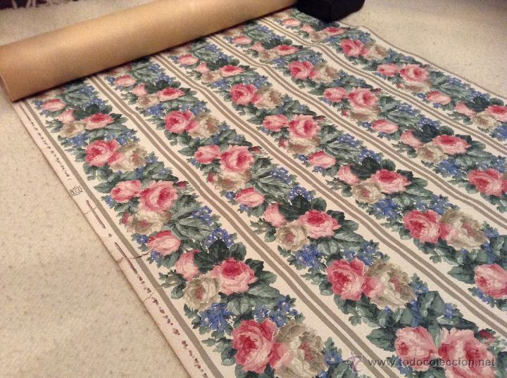 Precioso papel pintado ingl s flores a os 20 30 comprar en todocoleccion 44818150 - Papel pintado anos 60 ...