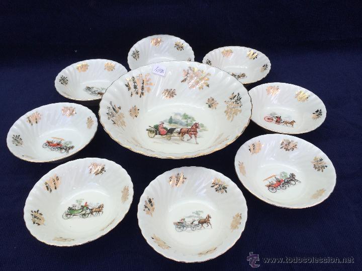 JUEGO ANTIGUO PARA POSTRE EN PORCELANA SELLADO (Antigüedades - Porcelana y Cerámica - Alemana - Meissen)