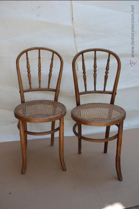 Sillas de madera de mediados sxx para restaura comprar sillas antiguas en todocoleccion - Restaurar sillas de madera ...