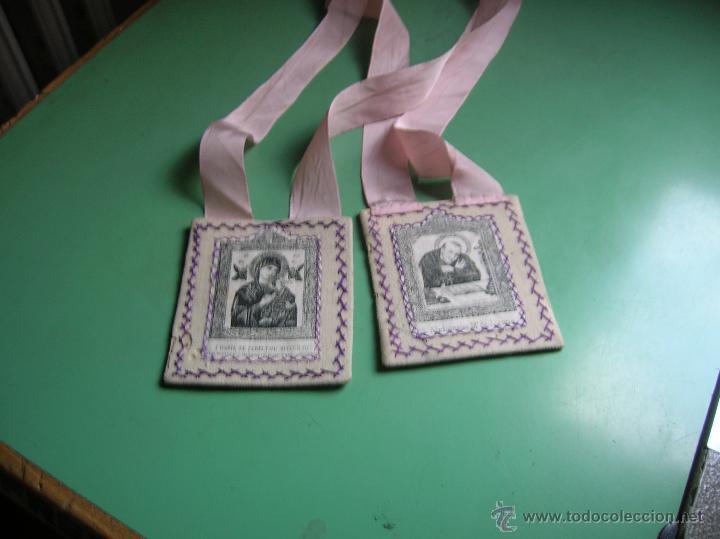 ESCAPULARIO PERPETUO SOCORRO (Antigüedades - Religiosas - Escapularios Antiguos)