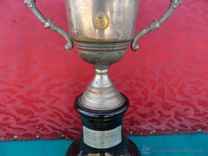 Antigüedades: trofeo en madera y alpaca - Foto 2 - 53303193