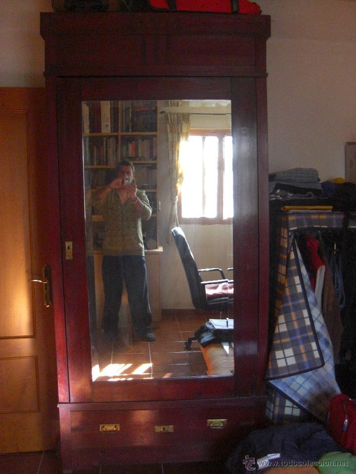 armario de una sola puerta con espejo - Comprar Armarios Antiguos en ...