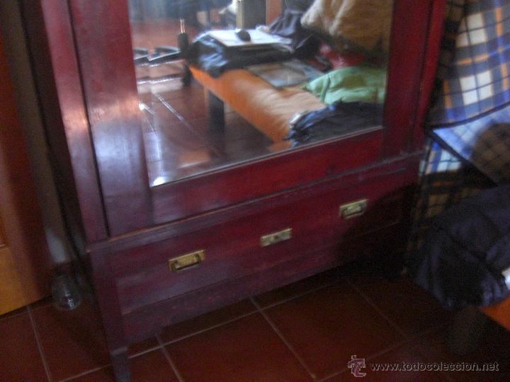Antigüedades: Armario de una sola puerta con espejo - Foto 2 - 44867298