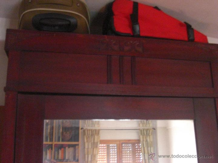 Antigüedades: Armario de una sola puerta con espejo - Foto 3 - 44867298