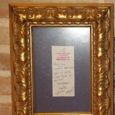 Antigüedades: MARCO O CUADRO DE MADERA TALLADO,COLOR ORO O PAN DE ORO!!. Lote 53426167