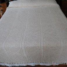 Antigüedades: COLCHA A GANCHILLO. Lote 44870053