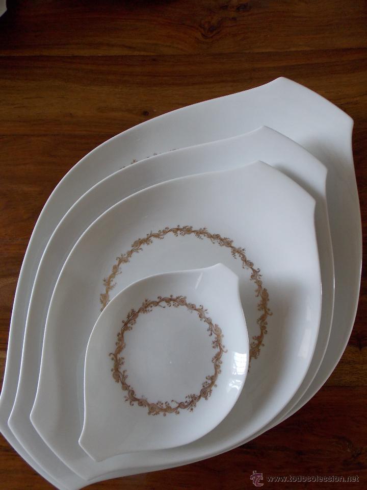 Antigüedades: Vajilla porcelana Bidasoa esplendida y completa vajilla de los Años 80 - Foto 10 - 44872223