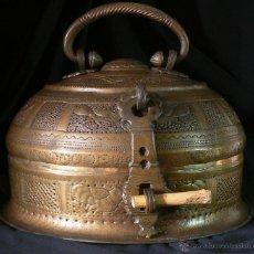 Antigüedades: ANTIGUO QUEMADOR INDIO DE INCIENSO-CALENTADOR-BRASERO. Lote 44872393