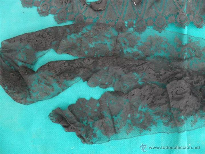 Antigüedades: lote de piezas de encajes en negro - Foto 2 - 44872726