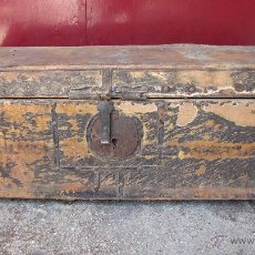 Antigüedades: BAÚL DE PIEL S. XIX. Lote 44881570