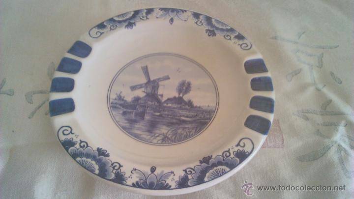 PRECIOSO PLATO DE CERÁMICA HOLANDESA T´DELFTSCHE HUYS HANDWORK 1986.PINTADO A MANO. (Antigüedades - Porcelana y Cerámica - Holandesa - Delft)