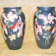 Antigüedades: PAREJA DE JARRONES CHINOS. Lote 44896974