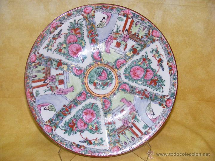 Antigüedades: Gran plato chino - Foto 8 - 44904357