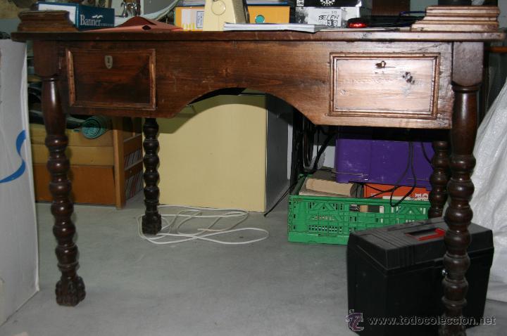 antigua mesa de oficina de madera - Comprar Mesas de Despacho ...