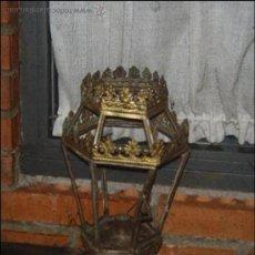 Antigüedades: FAROL METÁLICO SIN CRISTALES. Lote 34094870