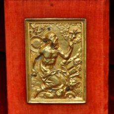 Antigüedades: PLACA DEVOCIONARIA EN BRONCE REPRESENTANDO A SAN JERÓNIMO DEL SIGLO XVIII. Lote 44952735