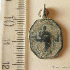 Antigüedades: PEQUEÑA MEDALLA CON VIRGEN Y CALIZ.. Lote 44971461